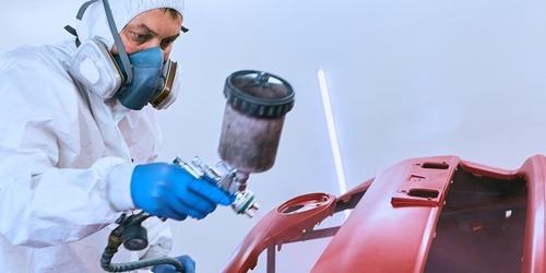 professional vehicle spray paint technique